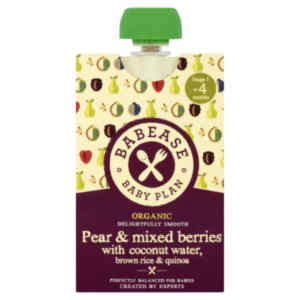 Babease – Pear and Mixed Berries with Coconut Water, Brown Rice and Quinoa