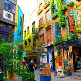 Wild Food Cafe, another restaurant located in the technicolor Neal's Yard.